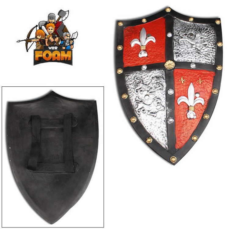 Medieval Royal Crusader Knight Foam Shield COAT Of Arms LARP