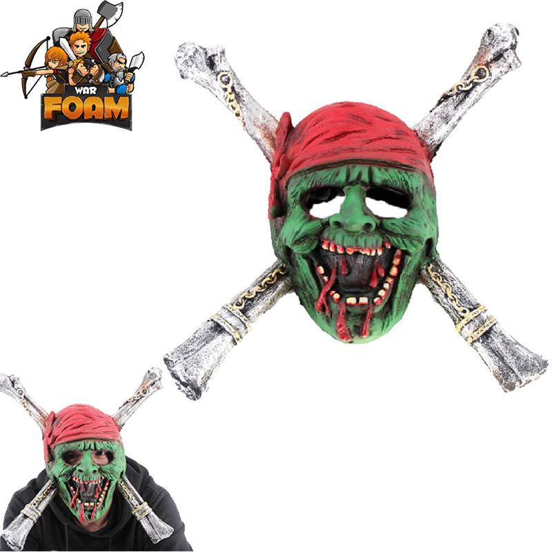 Zombie Pirate Skull Crossbones Mask For Cosplay Halloween