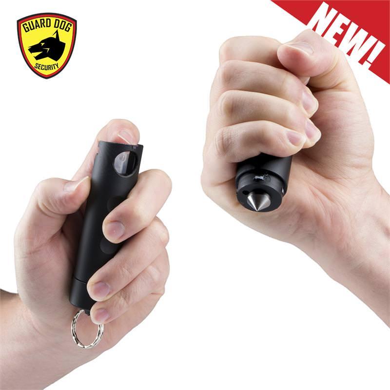 Harm & HAMMER Spiked Pepper Spray Black Glass Breaker Combo Punch