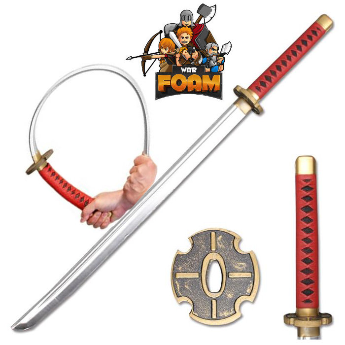 Foam Anime Samurai Katana Sword Chrome Finish Blade