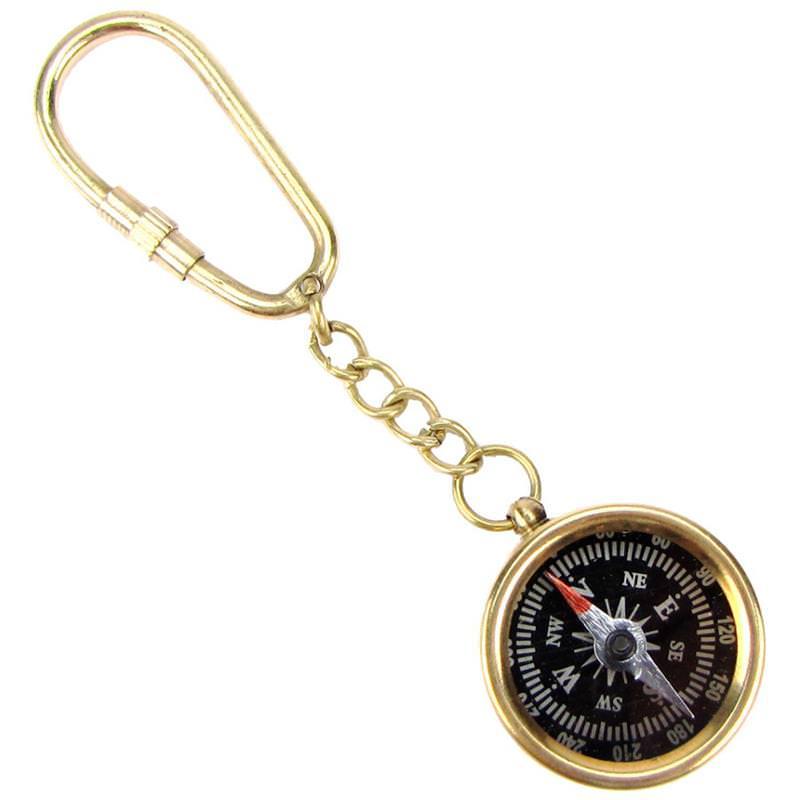 Nike Gloves Key Pocket: Brass Directional Pocket Compass Survival Gear Keychain