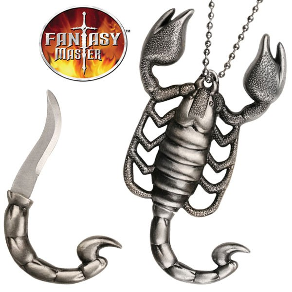 Scorpion Necklace With Hidden  KNIFE