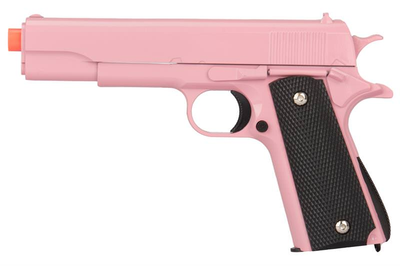 M1911 Replica Full Metal Two Tone Pink Airsoft Spring Pistol 6MM BB GUN