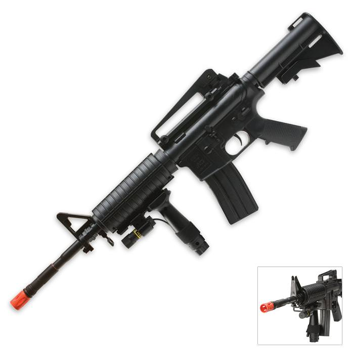 New 320 Fps Spring Airsoft M4a1 Carbine Rifle Laser