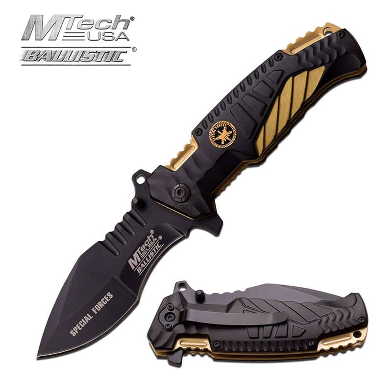 MTech USA 4.75 Inch Closed Special Forces Spring Assisted Opening KNIFE