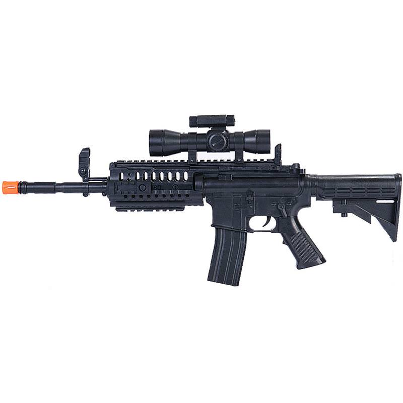 M4 A1 M16 Tactical Assault Spring AIRSOFT Rifle Sniper Gun 6mm BBs