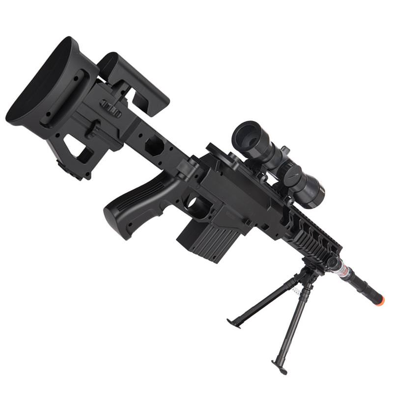 Spring Airsoft Sniper Rifle Gun W/ Scope Laser Light Bipod ...