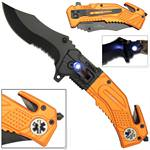 Spring Assist LED Tactical EMS Rescue Assisted EMS Knife