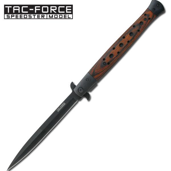 Huge Italian Stiletto Style Assisted Opening KNIFE - Pakkawood Handle