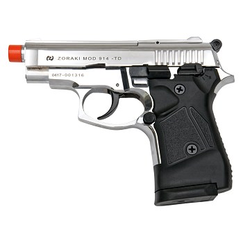 Zoraki Front Firing M914 Chrome Finish 9mm Blank Gun Pistol