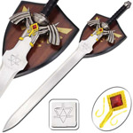 Zelda Twilight Princess Fantasy Video Game Sword With Wall Plaque