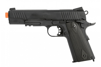 Colt Full Metal 1911 .45 ACP CO2 Rail Gun Blowback Airsoft Pistol Black