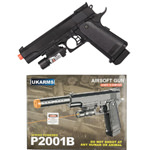 P2001B Airsoft Spring Powered Army 1911 With Laser FPS 180