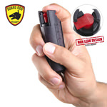 Black Hard Case Personal Defense Pepper Spray Keychain With Belt Clip