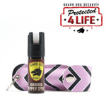 Personal Defense Pepper Spray OC-18 1/2 oz Fireista Pink / Black Chevron