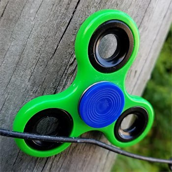 Stress Relief Hand Spinner and Spinning Tri Fidget High Speed Green