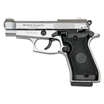Special 99 V85 Blank Firing Gun Replica Chrome Finish
