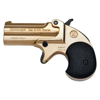 Kimar Old West Replica .22 Caliber Blank Firing Derringer Gold Finish