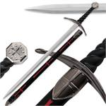 One Hand Knight's Templar Sword With Scabbard