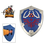 Blue Legend of Zelda Foam Hylian Shield w/ Strap LARP Cosplay Triforce