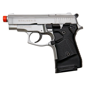Stalker 914 Silver Finish - 9mm Blank Firing Replica Zoraki Gun