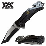 Day Zero Survival Masonic Tactical Rescue Spring Assisted Pocket Knife
