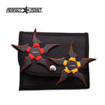 2 Pcs Two-Tone Blade Red and Yellow Paracord Throwing Stars Set