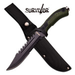 12.75 Inch Fixed Blade Big Bore Saw Back Tactical Combat Knife
