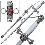 Knights of St. John Masons Sword Silver