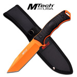 Mtech Orange Tanto Full Tang Combat Blade Survival Knife