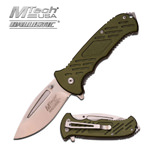Mtech Tactical Spring Assist Knife Army Green Handle
