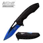 Mtech Blue & Black Finish Blade Spring Assist Assisted Knife