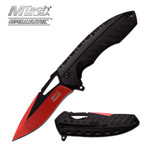 Mtech Red & Black Finish Blade Spring Assist Assisted Knife