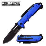 4.75 Inch POLICE Tactical Rescue Spring Assist Pocket Knife With LED Light