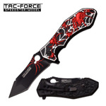 Black Widow Spider Red Spring Assist Knife