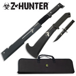ZOMBIE Hunting Apocalypse Combat Survival Knife SET With Case