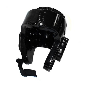 Martial Arts Protective Head Gear Black - Sparring Karate Taekwondo Size X-Large