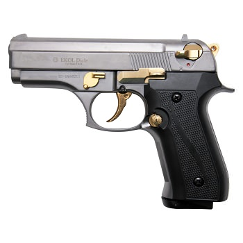 Cougar 8000 Fume With Gold Fittings - Blank Firing Replica Gun