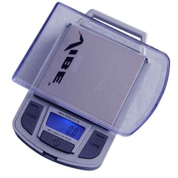 Vibe Silver Digital Pocket Scale 100g x 0.01g - With Calibration Weight