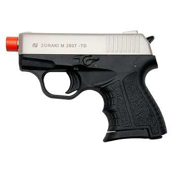 Zoraki M2807 Satin Finish - 8MM Front Firing Blank Pistol Semi-Auto Gun