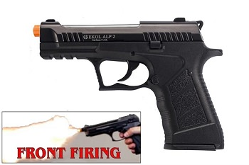 EKOL ALP2 Black Finish 9mm Sub-Compact V92F Model Front Firing Blank Gun