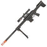 250 FPS Spring Airsoft Sniper Rifle Gun With Laser Scope Sight Bipod