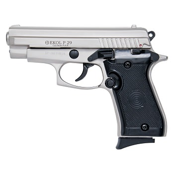 P29 Semi Automatic Blank Firing Pistol Satin Finish
