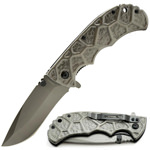 HEAVY DUTY Gunmetal Tactical Spring Assisted Open Pocket Folding Knife