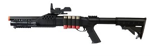 M180C2 Airsoft Spring Pump Shotgun Retractable Stock Flashllight Sight