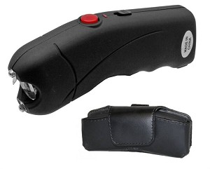 Black Cyclone 2.5 Million Volt Rechargeable Stun Gun With LED Light