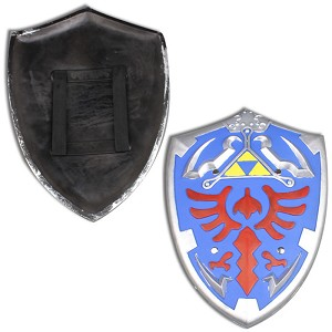 HERO Blue Link Hylian Triforce Foam Shield Legend of Zelda LARP Cosplay