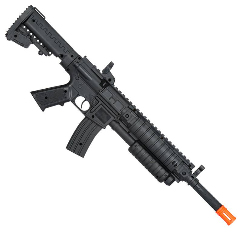 airsoft pump action tactical spring shotgun rifle with laser scope