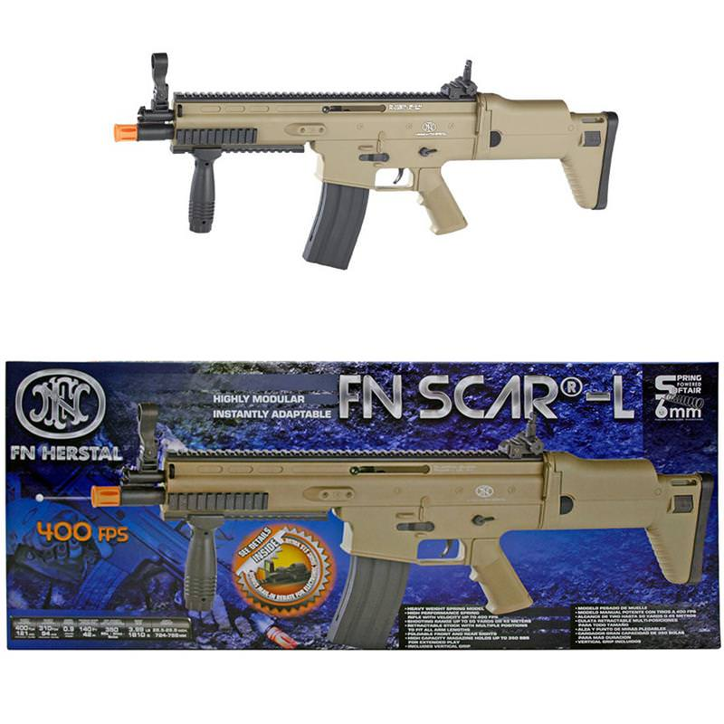 fn herstal scar l tactical spring powered airsoft rifle 400 fps