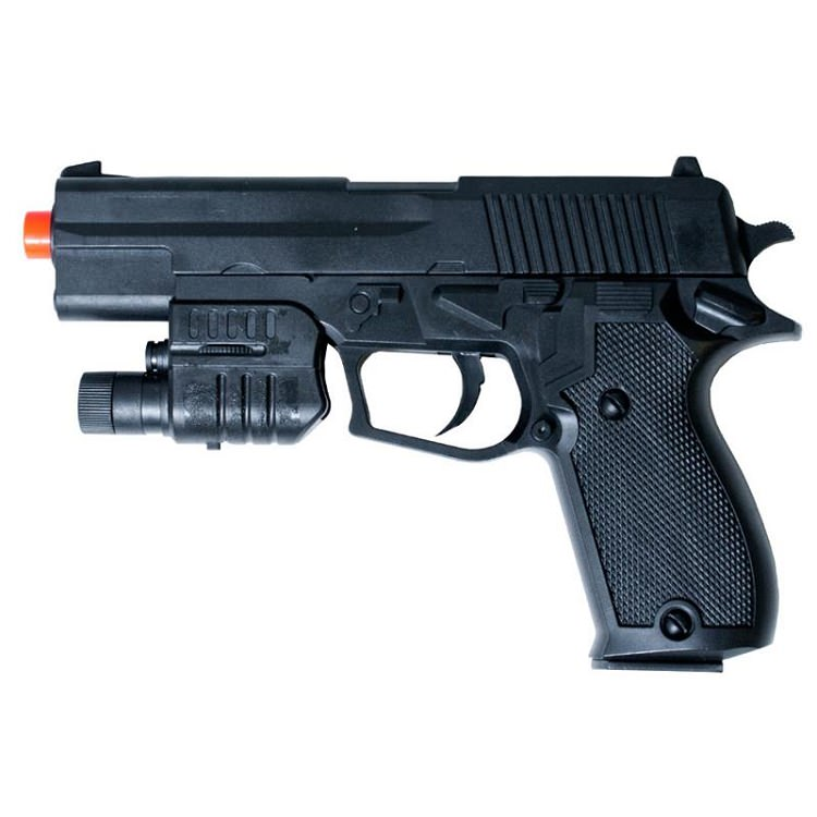 ''P2220 Spring AIRSOFT Pistol with Flashlight, Laser FPS-175''